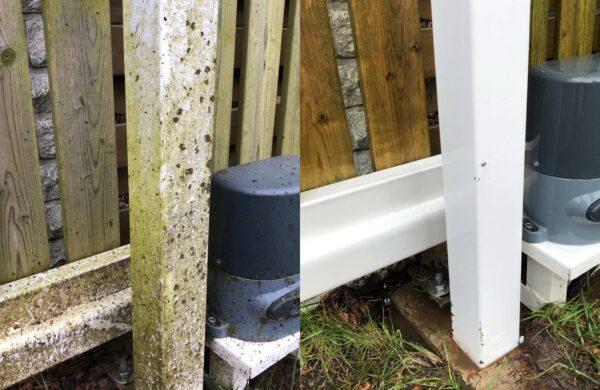 värava pesu aia pesu survepesu sambla eemaldus sammaldunud